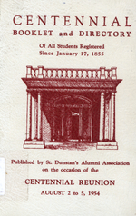 Centennial booklet and directory of all students registered since January 17, 1855
